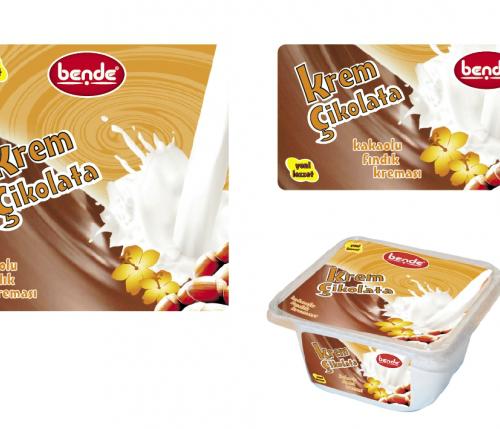 krem çikolata etiketi tasarımı