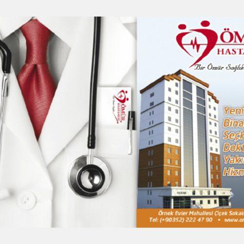 ömür hastanesi gazete reklamı tasarımı