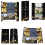 travellers cave hotel broşür tasarımı