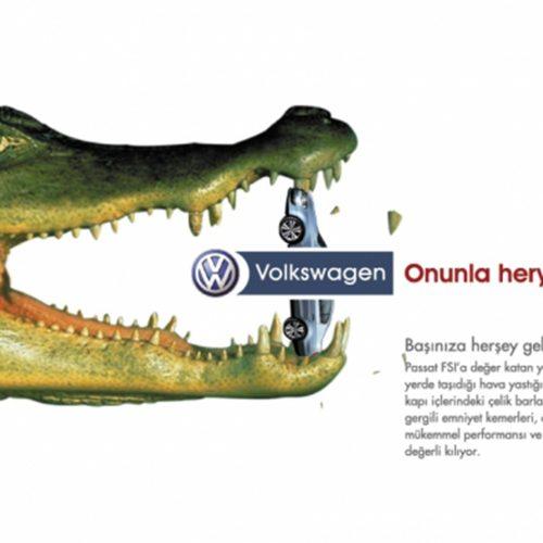 volksvagen gazete reklamı tasarımı