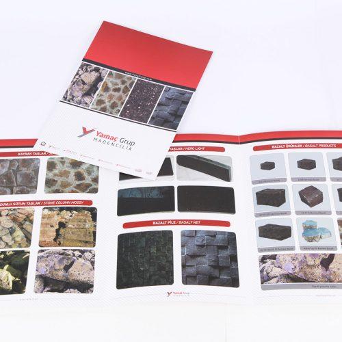 yamaç grup madencilik katalog tasarımı